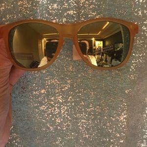 Accessories - Orange Lucite w/ Mirrored Frames